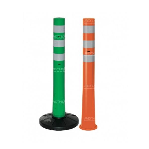 Мобильный переносной сигнальный столбик разного цвета