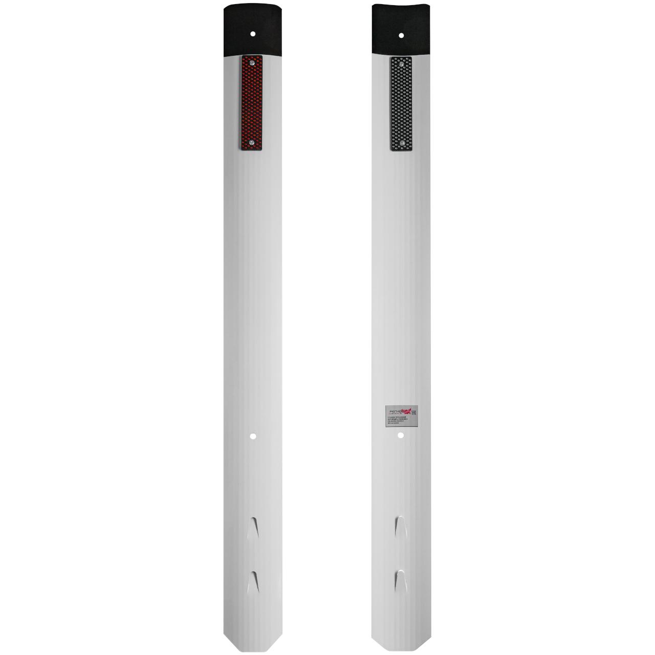 Столбик стилфлекс дорожный сигнальный с прямым верхом с катафотом вид передней и задней части